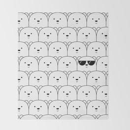 That Cool Polar Bear Throw Blanket