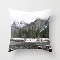 yosemite Throw Pillows featuring Yosemite by Lydia Gifford