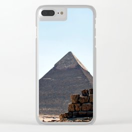 The Great Pyramids of Giza, Cairo, Egypt Clear iPhone Case