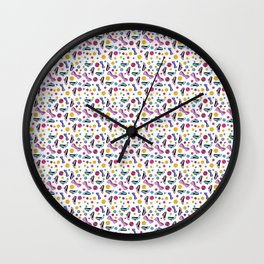 Heels and gems Wall Clock