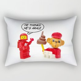 "space lego meeting the ""arale wannabe"" monkey Rectangular Pillow"
