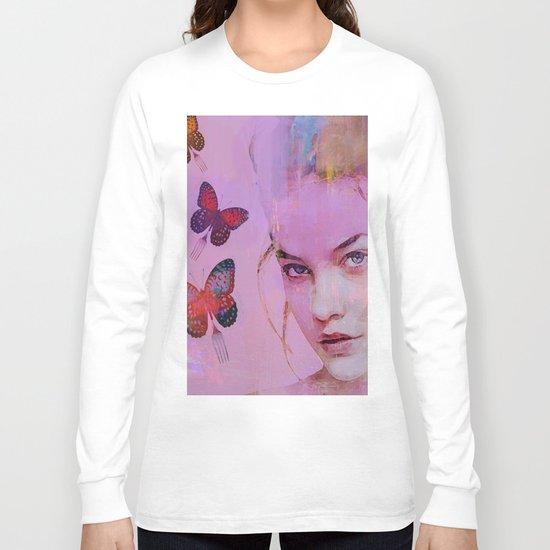 Isabelle and butterflies fork Long Sleeve T-shirt