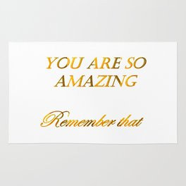 you are so amazzing 2 ( https://society6.com/vickonskey/collection ) Rug