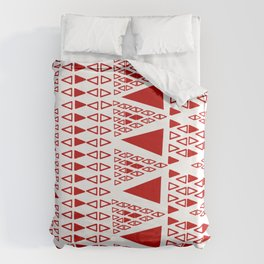 Zig Zag Pattern -  brick red Duvet Cover