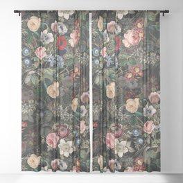 Dark Garden Sheer Curtain