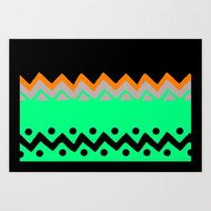 Polygons shape Art Print
