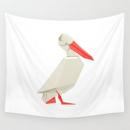 Origami Pelican Wall Tapestry