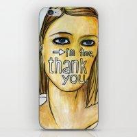 tenenbaum iPhone & iPod Skins featuring Margot Tenenbaum. by Piltrafadas Ilustracion