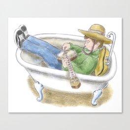 Bathtub Banjo Canvas Print