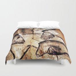 Facing Horses // Chauvet Cave Art Duvet Cover