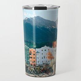 Pastel Houses Innsbruck Travel Mug