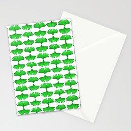 Ginkgo Biloba Leaf Stylized Vegetation Pattern Stationery Cards