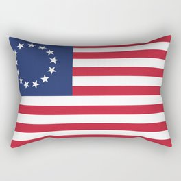 Betsy Ross USA flag - High Quality Image Rectangular Pillow