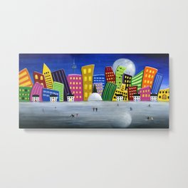 Hilly Meets Holiday Harbour Metal Print