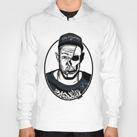 tyler the creator Hoodies featuring Golf Wang - Tyler The Creator Skull Ink Print by zombieCraig