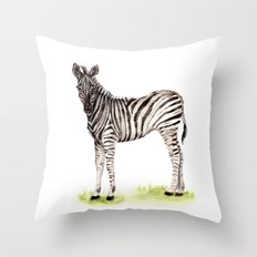Baby Zebra Throw Pillow