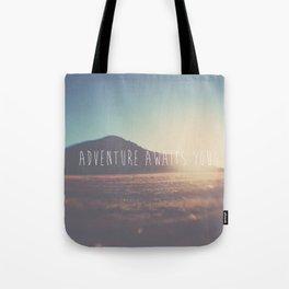 adventure awaits you ... Tote Bag