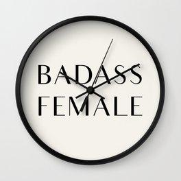 BADASS FEMALE Wall Clock