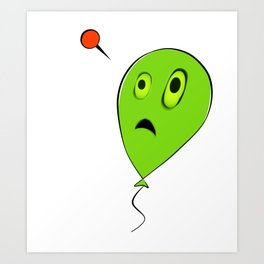 Threatened Balloon Art Print
