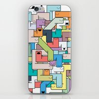 college iPhone & iPod Skins featuring College Daze by Grant Reitz