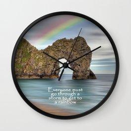 To The Rainbow Wall Clock