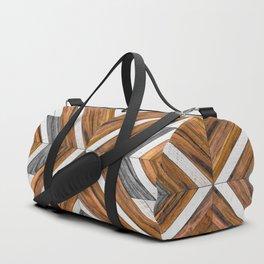 Urban Tribal Pattern No.4 - Wood Duffle Bag