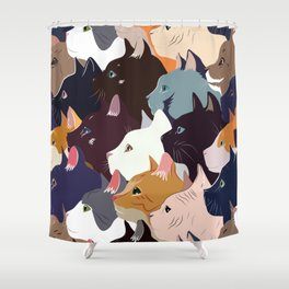 variety of cats Shower Curtain
