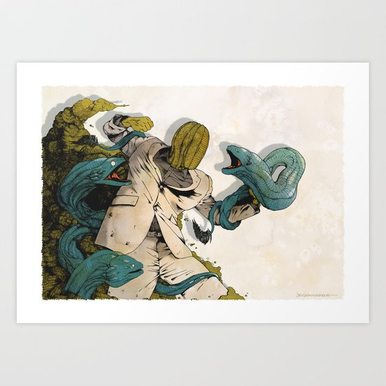 Murènes de Combat 2016 Art Print