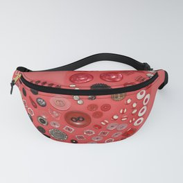 Vintage with a Smile - Red 1900's Buttons Fanny Pack