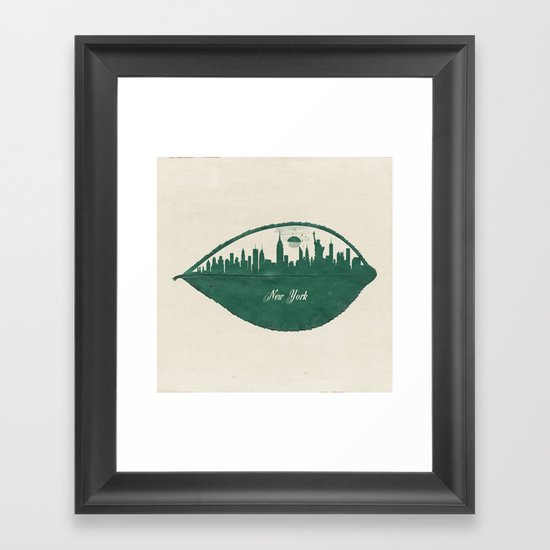 New York Skyline at Sunrise Framed Art Print
