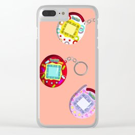 Tamagotchi Connection 2004-Pink Clear iPhone Case