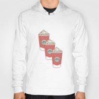starbucks Hoodies featuring Christmas Design Starbucks  by swiftstore