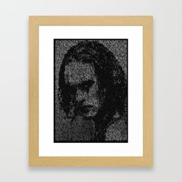 Eric Draven: The Crow Framed Art Print