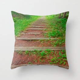 Cape Breton Forest Trail Throw Pillow