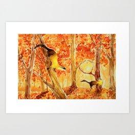 Animals from Formosa -Yellow-throated marten  Art Print
