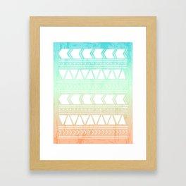 Sherbet Geometric Pattern Framed Art Print