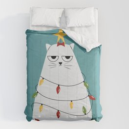 Grumpy Christmas Cat Comforters