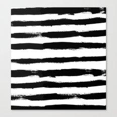Black Stripe Pattern Canvas Print