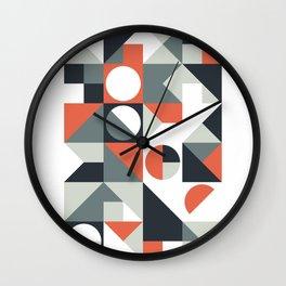 Mid Century Geometric 04 Wall Clock