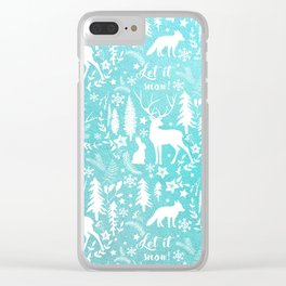 Let it snow! Christmas illustration Clear iPhone Case