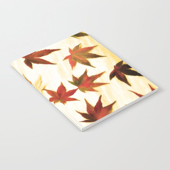 AUTUMN LEAVES PATTERN #3 #decor #art #society6 Notebook