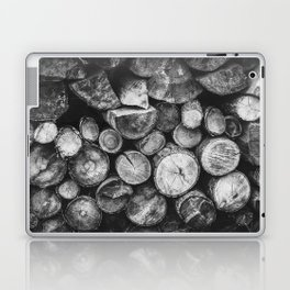 Logs of fire wood | Black and White | Lumber | Nature | By Magda Opoka Laptop & iPad Skin