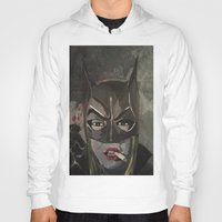 gotham Hoodies featuring Gotham Vixen by Paintings That Pop