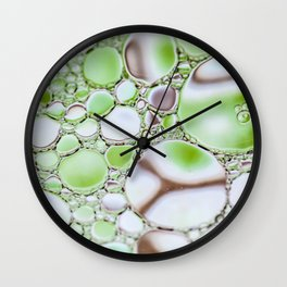 Bubbling Green Wall Clock