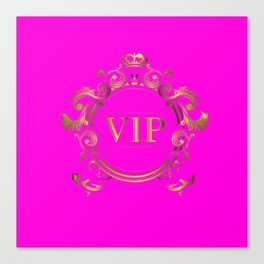 VIP in Hot Pink and Goldtones Canvas Print