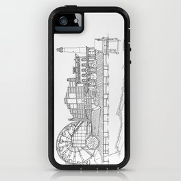 The Jersey Shore by the Downtown Doodler iPhone Case