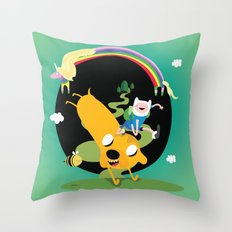 Adventure time Throw Pillow
