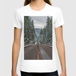 Winter Road Trip - Pacific Northwest Nature Photography T-shirt
