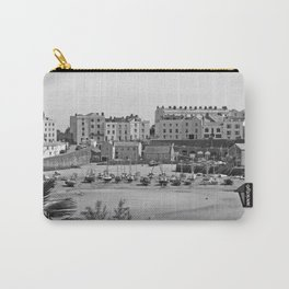 Tenby Harbour. Black+White. Reflection. Carry-All Pouch