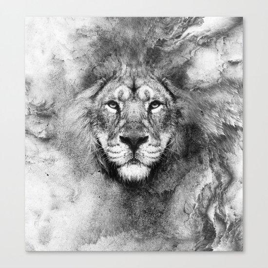 Lion Black and White Canvas Print